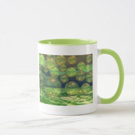 Spring Creation – Green & Gold Renewal Abstract Mug