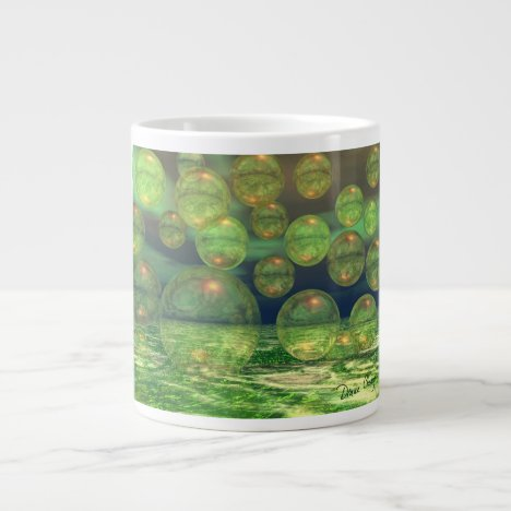 Spring Creation – Green & Gold Renewal Large Coffee Mug
