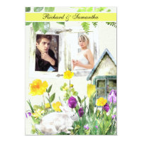 Spring Garden Custom Photo 5x7 Wedding Invitation