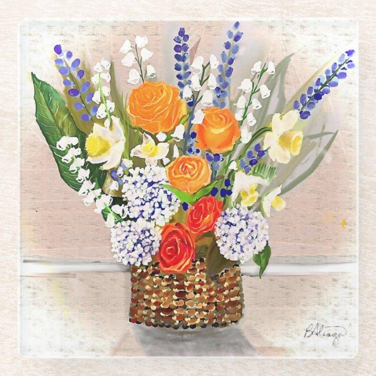 Spring Into A New You Glass Coaster