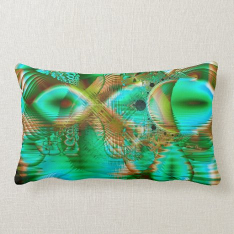 Spring Leaves, Abstract Crystal Flower Garden Lumbar Pillow