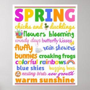Spring Nature Subway Art Poster