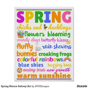 Spring Nature Subway Art Poster