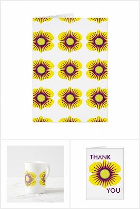 Spring yellow & purple flowers