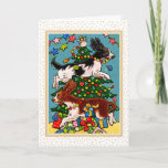 Springer Spaniel Dog Christmas Greeting Card
