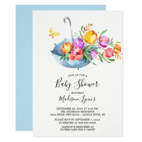 Springtime Tulips Babyl Shower Invitation