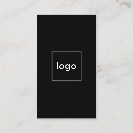 Square professional black add your custom logo business card