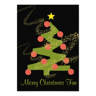 Squiggle Merry Christmas Party Invitation