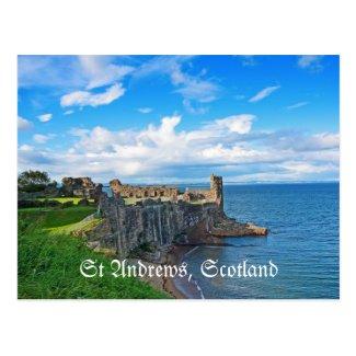 St Andrews Castle, Scotland, postcard