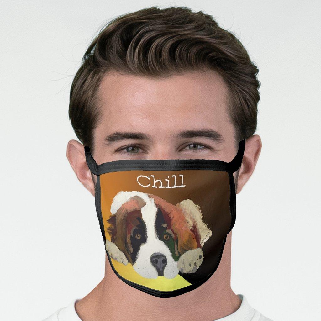 St Bernard Puppy Chillin' Face Mask