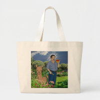 St. Luis Ready in the Garden Large Tote Bag