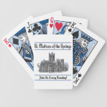 """St. Mattress Of The Springs"" Church playing cards"