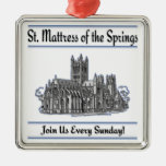 """St. Mattress Of The Springs"" Church ornaments"