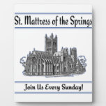"""St. Mattress Of The Springs"" Church plaques"