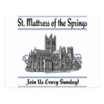 """St. Mattress Of The Springs"" Church postcards"