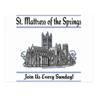 """St. Mattress Of The Springs"" Church Post Cards"