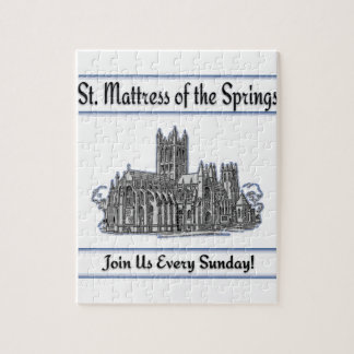 """St. Mattress Of The Springs"" Church Jigsaw Puzzles"