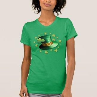 St Patrick Paddy Hat and Shamrock T-shirt