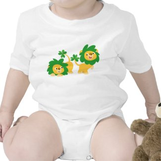 St Patrick's Day Cartoon Lions Baby Apparel shirt
