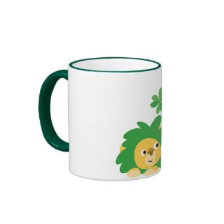 St Patrick's Day Cartoon Lions mug mug