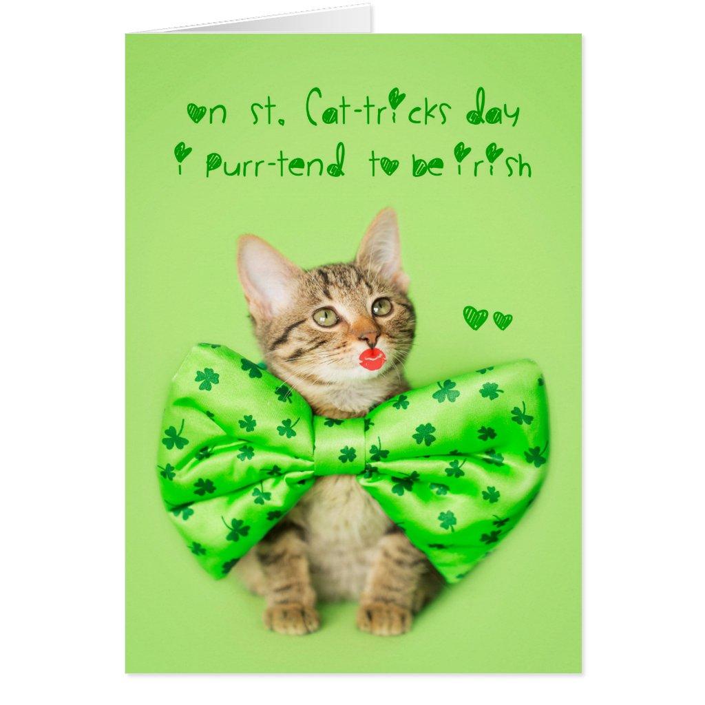 St. Patricks Day Kitten Kisses