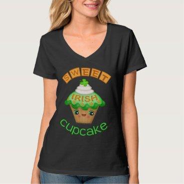St. Patrick's Day Sweet Irish Cupcake T-Shirt