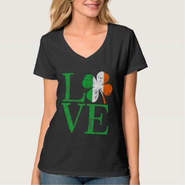 St Patricks Irish Love Shamrock T-Shirt