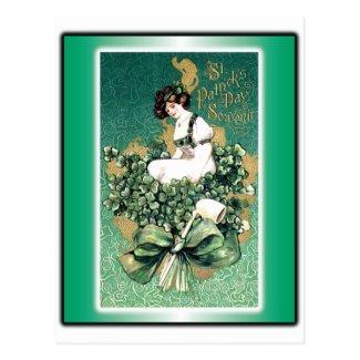 St. Patrick's Souvenir Vintage Victorian Post Card