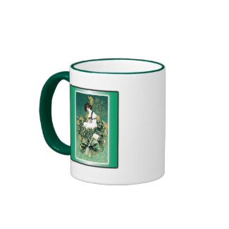 St. Patrick's Souvenir Vintage Victorian Post Card Coffee Mug
