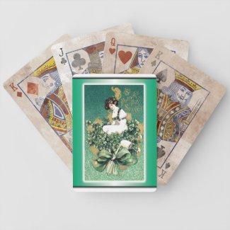 St. Patrick's Souvenir Vintage Victorian Postcard Deck Of Cards