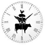 Stacked Farm Animals Large Clock