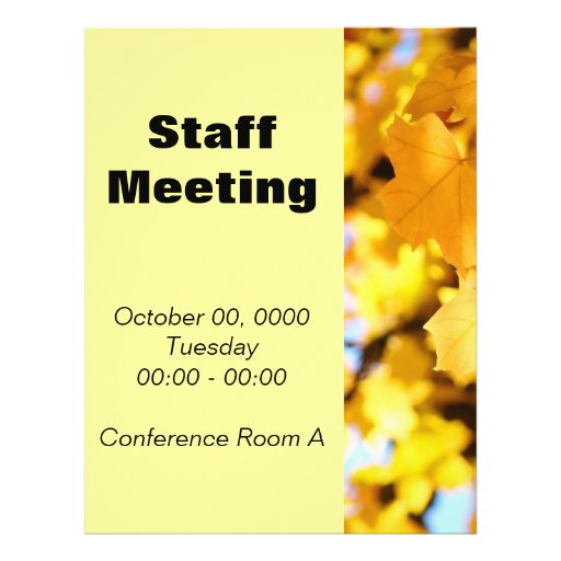 staff meeting flyer