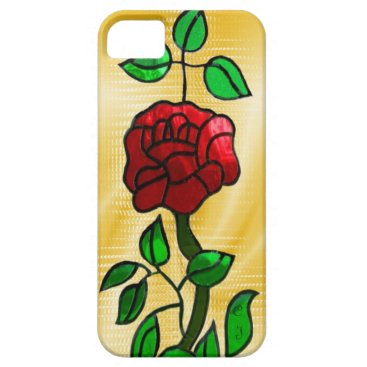 Stained glass Rose iPhone SE/5/5s Case