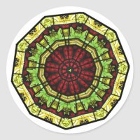 Stained Glass Window Mandala Stickers | Zazzle