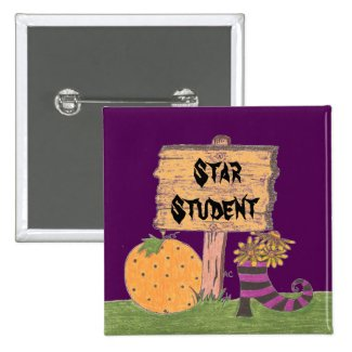 Star Student Halloween reward button