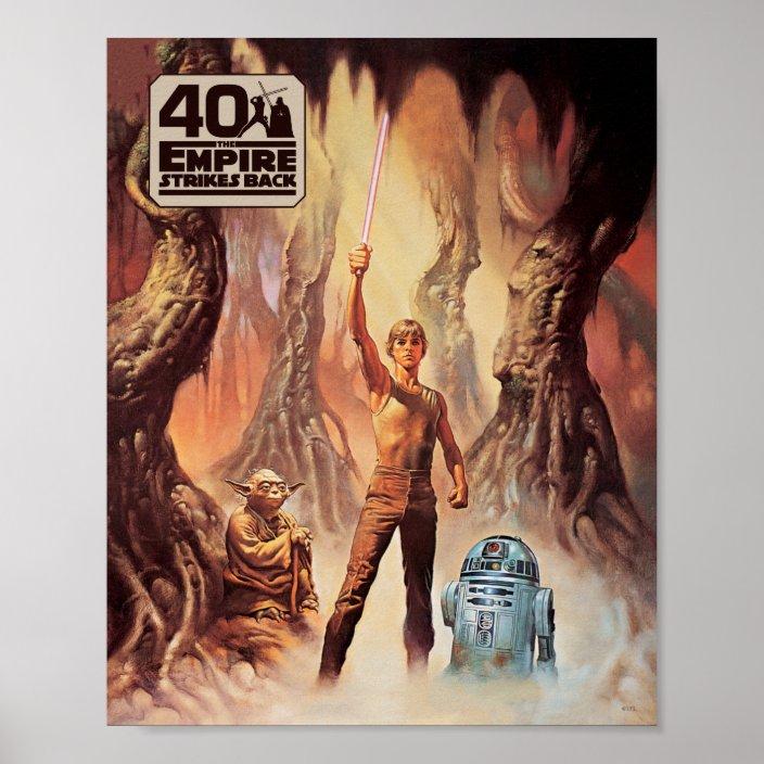 star wars the empire strikes back luke skywalker poster zazzle com