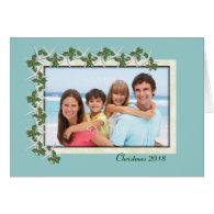 Starfish and Holly Tropical Photo Christmas Card