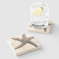 Starfish Drink Coasters Stone | Zazzle