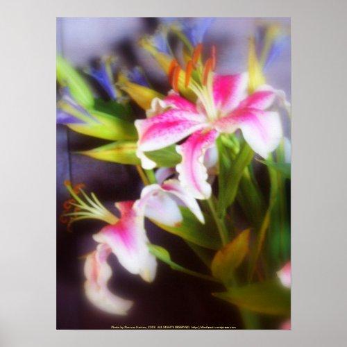 stargazer lilies #5 print