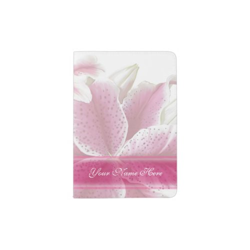 Stargazer Lilies Passport Holder