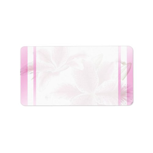 Stargazer Lillies Address Labels