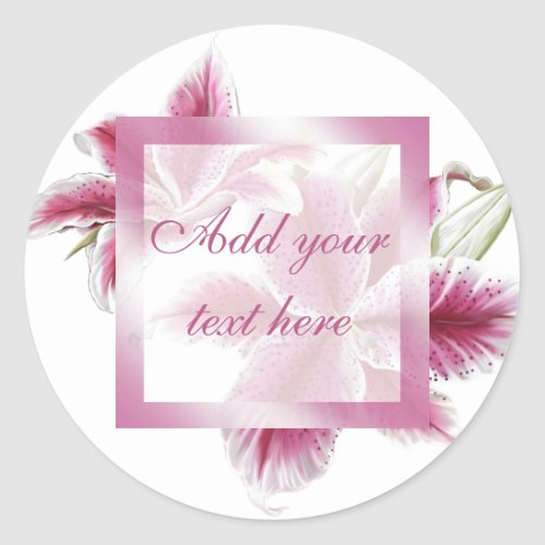 Stargazer Lillies Gift Sticker
