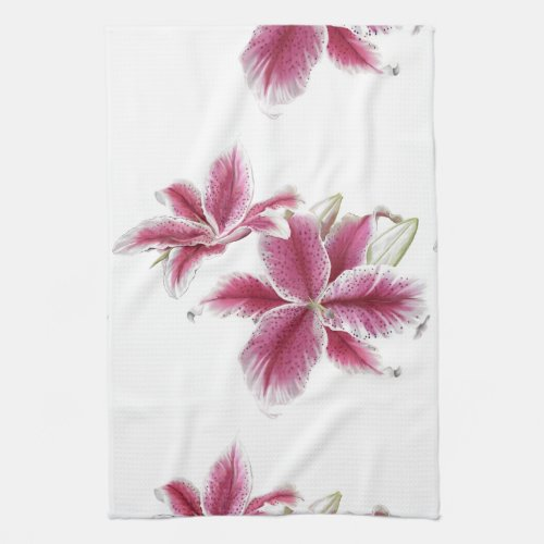 Stargazer Lillies Kitchen Towel 16
