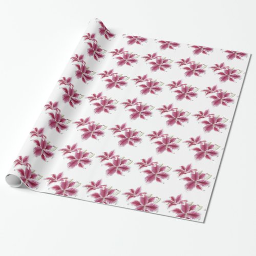 Stargazer Lillies Wrapping Paper