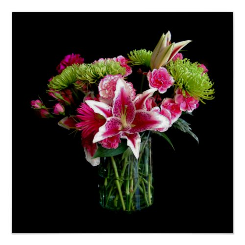Stargazer Lily Bouquet Perfect Poster