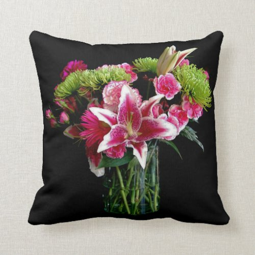 Stargazer Lily Bouquet Pillow
