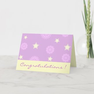 Stars and flowers card