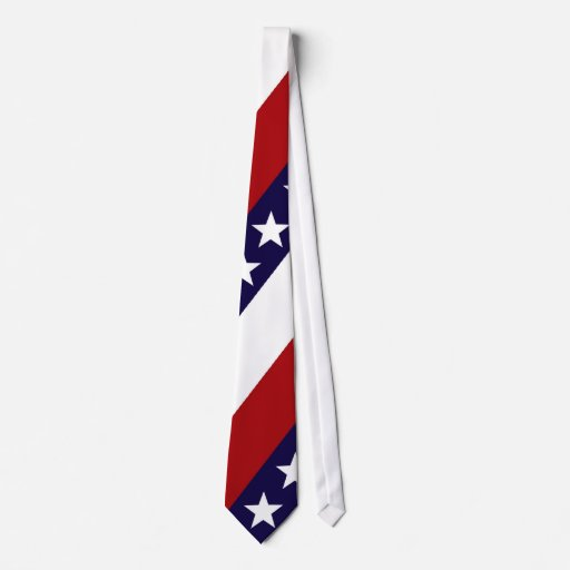 Stars and Stripes Patriotic Tie