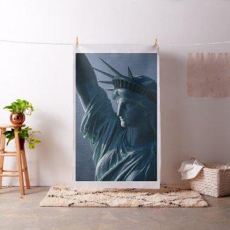 Statue of Liberty Closeup Photograph Fabric