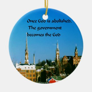 Stay close to God Double-Sided Ceramic Round Christmas Ornament